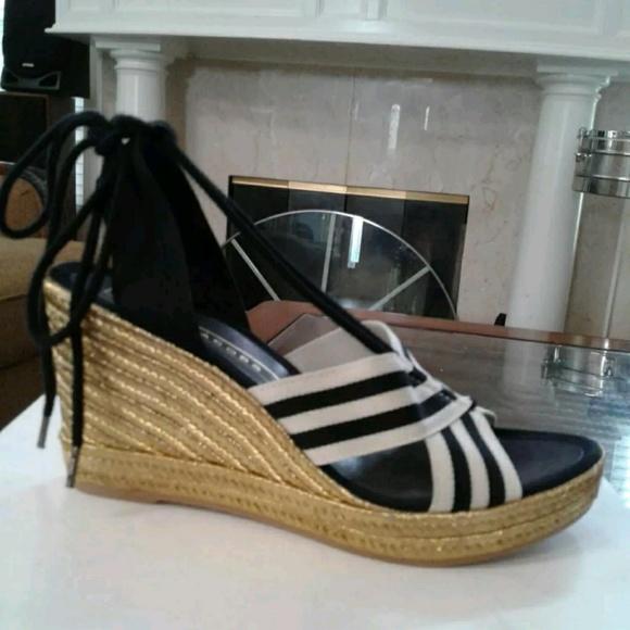 Marc Jacobs Dani Ankle Tie Espadrille Wedge Sandal